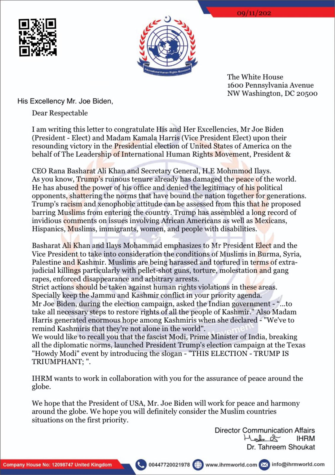 His Excellency Mr. Joe Biden, United States of America.